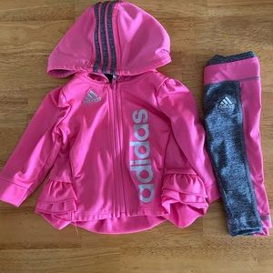 Adidas baby girl 2 pc outfit - size 6 months